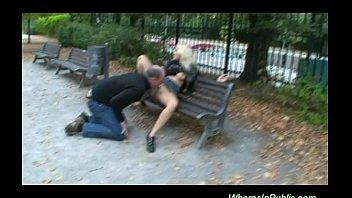 Nymph rides boner on park bench Vorschaubild