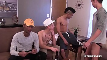 Gay anonomus sex - Young interracial gay sex orgy