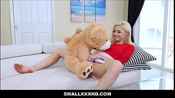Tiny Blonde Teen Sia Lust Fucked On Valentines Day After Caught Fucking Teddy Bear