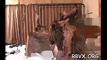 Sexy bondage scenery with amateur slut getting belted and teased thumbnail
