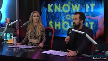 Babes get naked during a questioning game on a morning show 6 min
