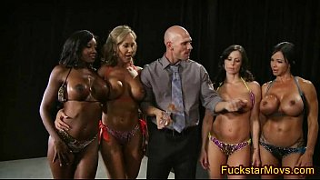 4 Big Tits Babes start an Orgy - FuckStarMovs.com 7 min