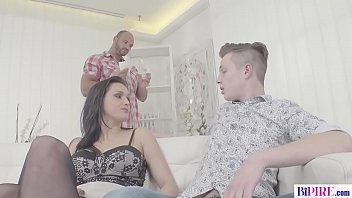 Sexy Cunt Barbara Bieber convinces Two Guys to Fuck Her and each Other