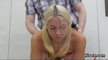 Ass banging bdsm babe Frisky kitten is taken in anus asylum for painful treatment