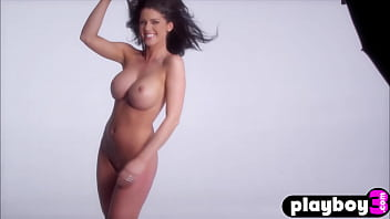 Perfect model with perfect big tits Crystal McCahill posing totally naked