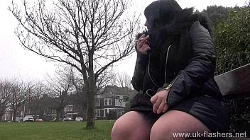 Bbw babe Sarah-Janes public flashing and outdoor exhibitionism of amateur mum