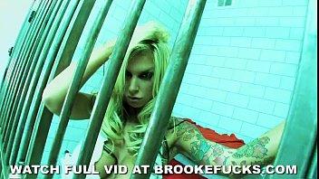 Brooke Banner In Jail Masterbates