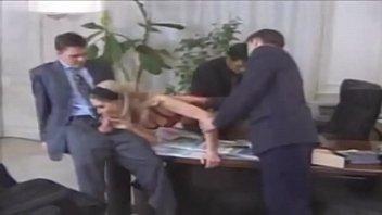 Secretary Fucks Her 3 Bosses