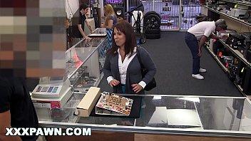 XXX PAWN - Desperate MILF Sells Her Husband's Baseball Cards For Bail Money 10 min