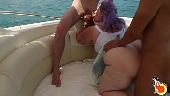 Fatty Sofia Has An Orgy And DP With Two Men And A Woman With Strapon