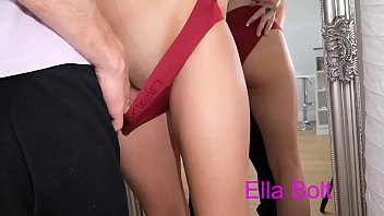 Handjob with My Stepsister, it touch  his pussy and cum in his panty  Ella Bolt