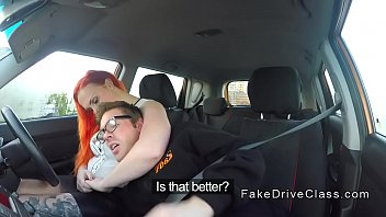 Big ass redhead bbw bangs in driving school