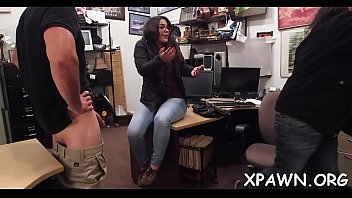 Non-professional gets shown the back room where this babe gets fucked