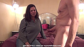 rough cfnm handjob from milf