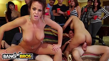 BANGBROS - College Party With Diamond Kitty, Rahyndee James & Luna Star