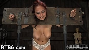 Lusty and wild whores are stuffed inside a miniature cage