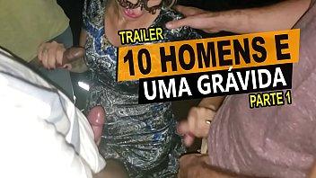 10 homens e uma grávida, Cristina Almeida em um menage no cinema com vários desconhecidos, casal amador - Kratos Parte 1/4 prnhub