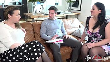 AGEDLOVE (Eva Jayne & Devon Breeze) Nasty Mature Ladies Threesome Hardcore