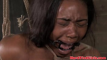 Ebony spanked free galleries Suspended ebony in a deepthroat gag
