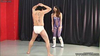 Asian dominatrices Japanese femdom risa ballbusting