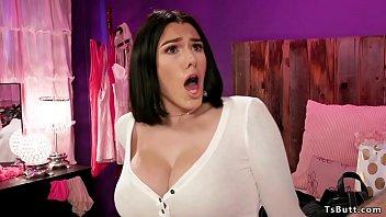 Huge tits shemale girlfriend anal fucks bf thumbnail