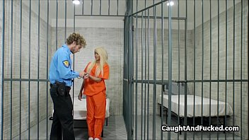 Transgenders and jail - Hot blond convict fucked in jail