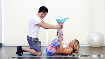 Hot Stepmom Tegan James Family Workout Taboo Fuck With Her Son
