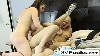 Hot Steamy 3 way of tits, asses, and a big dick!