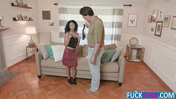 Jeni Angel In Ebony Baby Sitter Booty Fuck Old Man Cock