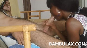 ebony teen amateur blowjob cum in mouth
