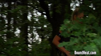 Lesbian Huntress Caught Young Brunette In The Woods thumbnail