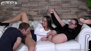 Two Female Agents in front of Amateur Jerker