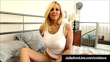 Busty Cougar Julia Ann Dildo Fucks Her Moist Muff!