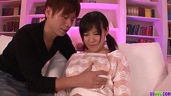 Miyuki Nonomura feels entire cock in her tiny holes - More at 69avs com