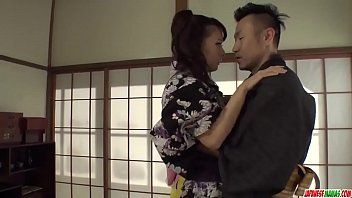 Naughty Yui Oba enjoys man licking and sucking her tits  - More at Japanesemamas com