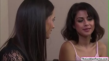 Lesbian Penelope tasting Georgias pussy
