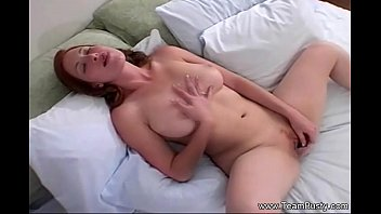 Redhead big breasts Perfect redhead natural boobs milf
