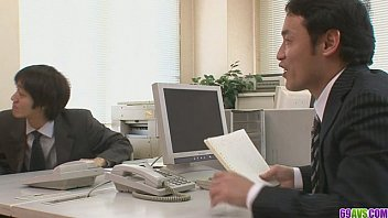 Two Guys Fuck And Creampie Aiko Hirose At The Office 8 min
