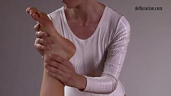 First time pussy massage of Nikita Jankovska 5 min