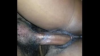Wet porn wife Ebony pussy fucking at home