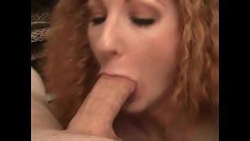 Amazing brunette slut blows stiff rod