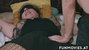 Tied up wife gets pussy toyed