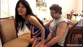 Streaming Video Hot Asian Teen Lapdances a Handsome British Bloke - XLXX.video