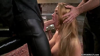 Bound busty trainee anal fucked