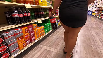 Wife in mini skirt with no panties flashing