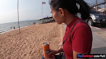 Amateur Thai teen girlfriend big titty fucked back in the hotel thumbnail