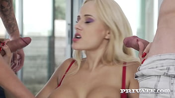 Private.com - High Heeled Blonde Angel Wicky In Crazy Fisting 3Some!