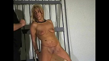Wooden Horse Pussy Torment In Prison Of Blonde Female Captive