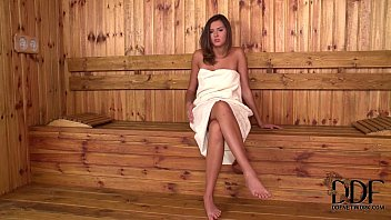 Ukraine teen thumbnail Ukrainian babe agness fingers her pink pussy in the sauna