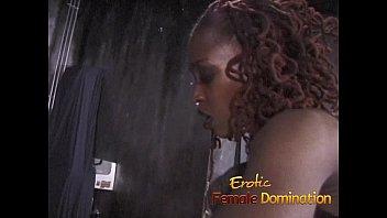Black mistress enjoys dominating three helpless white girls at once-6